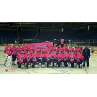 Tulsa Oilers in Pink Jerseys