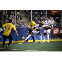 The Tacoma Stars Battle for the Ball vs. the Turlock Express