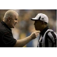 Ron James Talks with and AFL Official