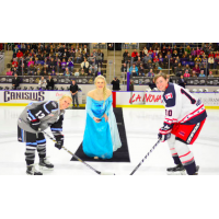 Buffalo Beauts Face off with New York Riveters as Elsa from Frozen Drops the Puck