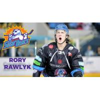 Defenseman Rory Rawlyk with the Coventry Blaze