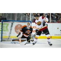 Forward Kyle Stroh with the Indy Fuel against the Fort Wayne Komets