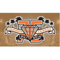 San Jose Giants California League 75th Anniversary Logo