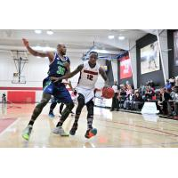 Bilal Benn of the Orangeville A's Handles the Ball against the Niagara River Lions