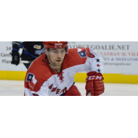 Justin Baker with the Allen Americans