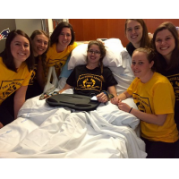 Denna Laing in Recovery with her Boston Pride Teammates