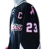 Texas Stars Pink in the Rink Jersey - Side