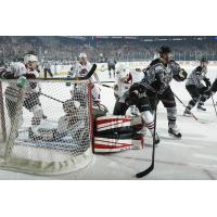 Chicago Wolves Stack up in Front of the Rockford IceHogs Goal