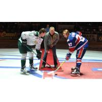 Dairy Producer Sid Wavrin Drops the Puck at Spokane Chiefs vs. Everett Silvertips Game