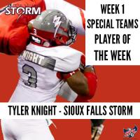 Tyler Knight of the Sioux Falls Storm