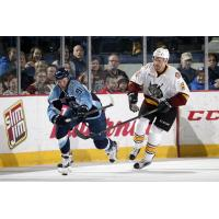 Chicago Wolves D Jeremie Blain vs. the Milwaukee Admirals
