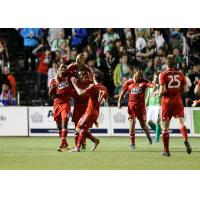 FC Dallas Celebrates a Goal vs. OKC Energy FC