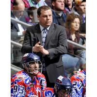 New Vancouver Stealth Coach Jamie Batley with the Toronto Rock