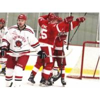 Port Huron Prowlers Celebrate a Goal vs. the Brewster Bulldogs