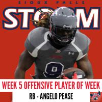 Sioux Falls Storm RB Angelo Pease