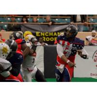 Mesquite Marshals Defend against the Duke City Gladiators