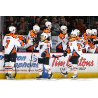 Lehigh Valley Phantoms Bench Exchanges Congratulations