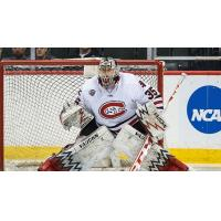 Goaltender Charlie Lindgren with St. Cloud State