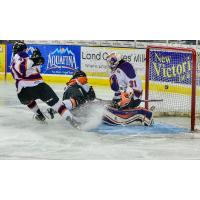 Omaha Lancers in Front of the Youngstown Phantoms Goal