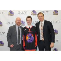 Youngstown Phantoms Tender, Forward Max Ellis with Team Officials