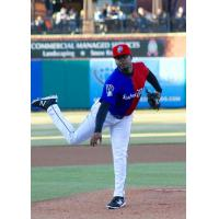 New Hampshire Fisher Cats RHP Luis Santos in Bipartisan Jersey