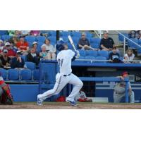 Ryan McBroom Launches a Home Run for the Dunedin Blue Jays