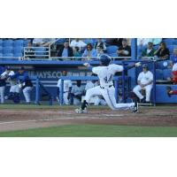 Dunedin Blue Jays OF Derrick Loveless Swings Away