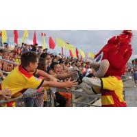 Fort Lauderdale Strikers Mascot Greets the Fans
