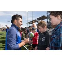 Colorado Springs Switchbacks Visit with the Fans