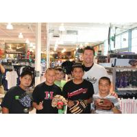 Visalia Rawhide and Children at Dicks Sporting Goods in Visalia
