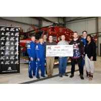 Calgary Roughnecks Present Cheque to STARS Air Ambulance