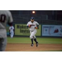 Somerset Patriots DH Aharon Eggleston Rounds the Bases Following a Homer