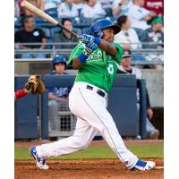 Tulsa Drillers in Going Green Conservation Night Jerseys