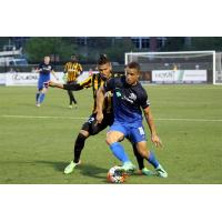 Charleston Battery Midfielder Maikel Chang Battles for the Ball vs. the Pittsburgh Riverhounds