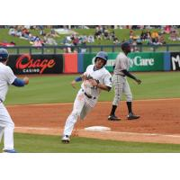 Drew Maggi of the Tulsa Drillers Rounds the Bases following a Home Run