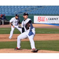 Syracuse Chiefs Pitcher Paolo Espino Prepares to Deliver