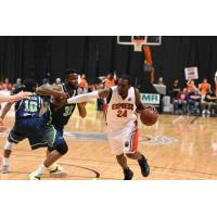 Windsor Express Drive against the Niagara River Lions