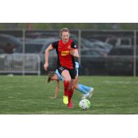 Western New York Flash Midfielder Samantha Mewis Chases the Ball vs. Sky Blue FC