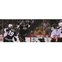 Ontario Reign Celebrate a Goal vs. the San Diego Gulls