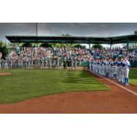 The National Anthem at an Ogden Raptors Game