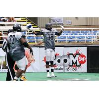 Duke City Gladiators WR Sedrick Johnson Celebrates a Touchdown