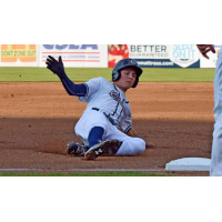 Trea Turner of the Syracuse Chiefs Completes a Triple