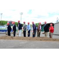 Groundbreaking at New BB&T Ballpark Deck