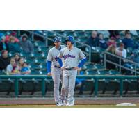 Midland RockHounds Center Fielder Brett Vertigan Talks at Third Base