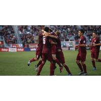 Sacramento Republic FC Celebrate a Goal vs. Liverpool FC U21s