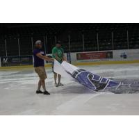 Tri-City Storm being Removed from the Ice at Viaero Center