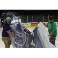 Tri-City Storm Logo being Removed at Viaero Center