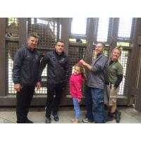 Orange County Blues and Dr. Joshua Schiffman in Front of Elephants at Hogle Zoo