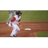 Andrew Daniel of the Arkansas Travelers Leads off Second Base