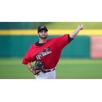 Pitcher  Richard Bleier with the Frisco RoughRiders